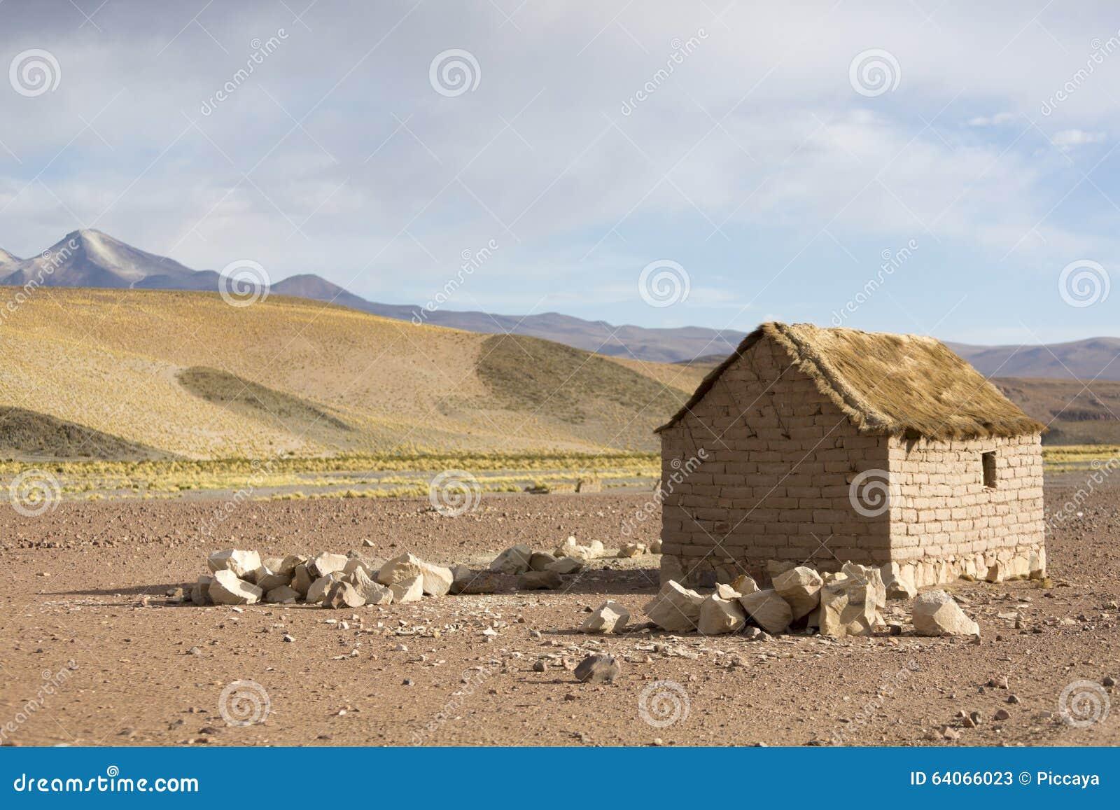 adobe house bolivian altiplano andean mountain bolivia cerrillos village near eduardo avaroa fauna national reserve 64066023