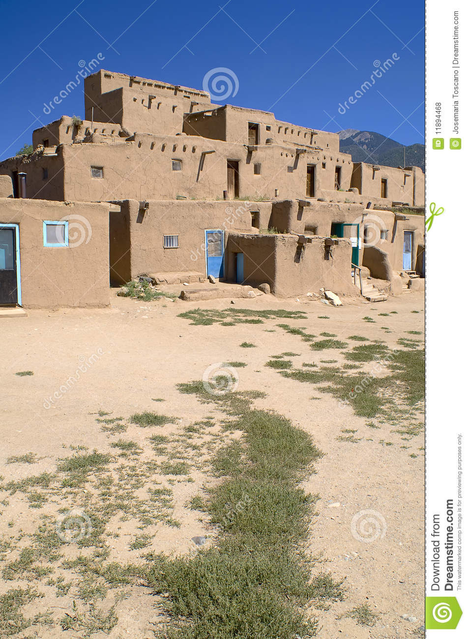 Adobe houses in the pueblo of taos royalty free stock photos image 11894468 - Pueblo adobe houses property ...