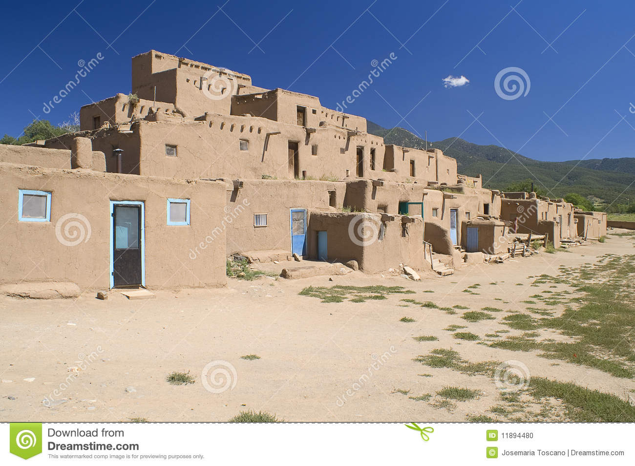 Adobe houses in the pueblo of taos stock photo image 11894480 - Pueblo adobe houses property ...