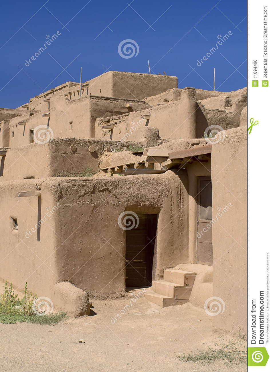 Adobe houses in the pueblo of taos stock photo image 11894496 - Pueblo adobe houses property ...