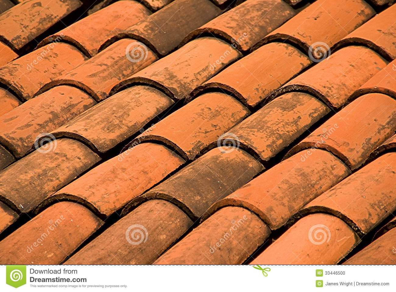 Adobe Mexican Roof Tiles Stock Photo Image 33446500