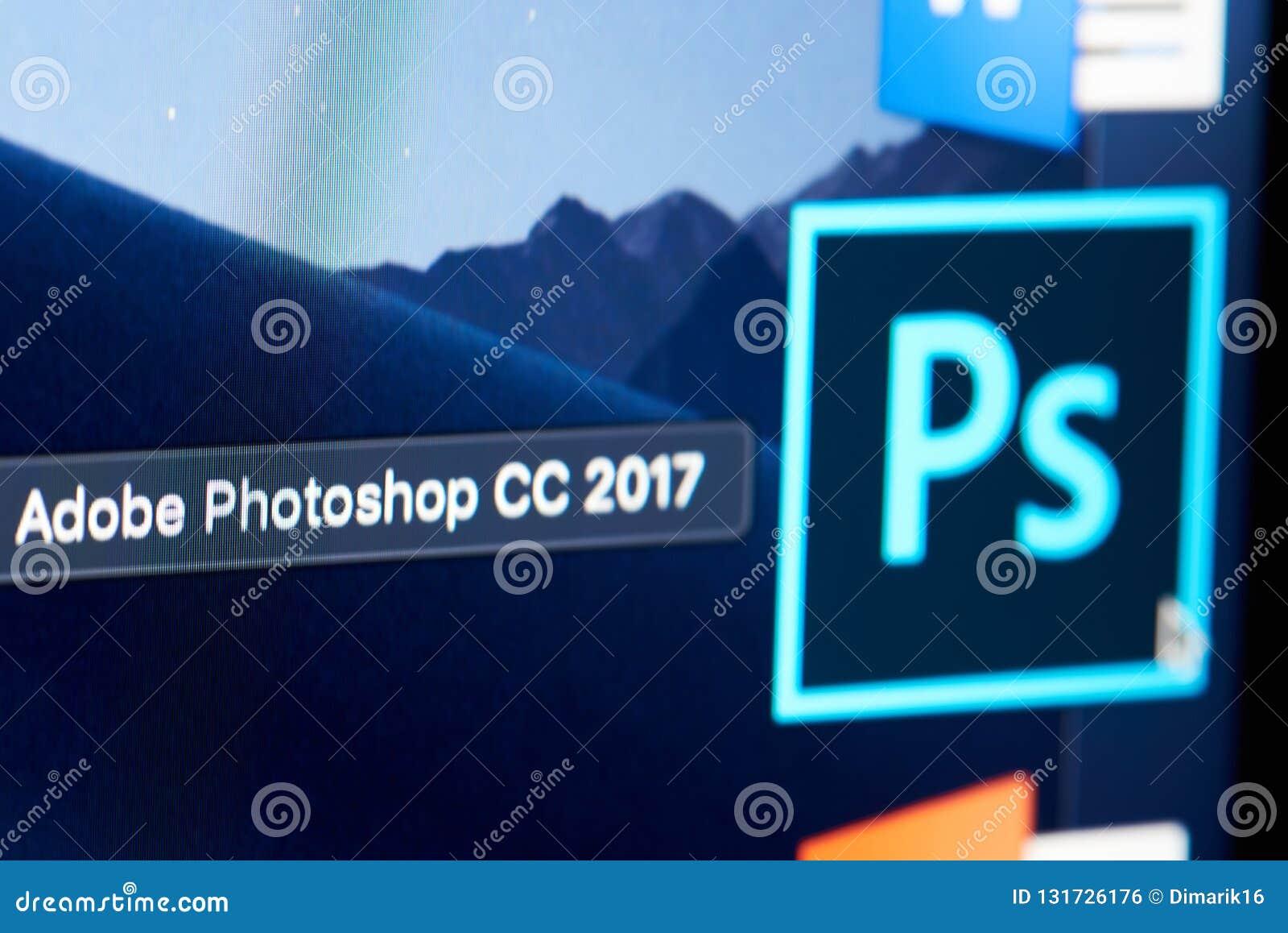 Adobe Photoshop CC Icon On Screen Editorial Photo - Image of