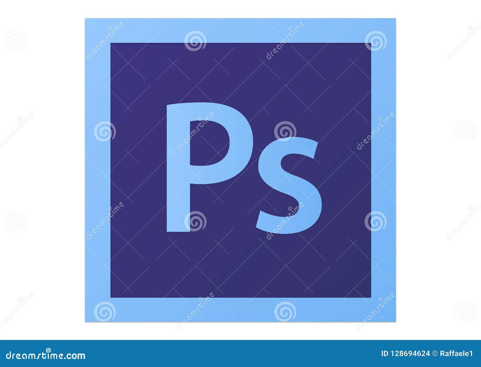 Adobe Photoshop CS6 Logo editorial stock image  Illustration