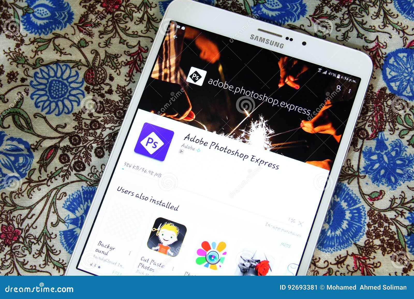 Adobe Photoshop Express App Editorial Photo - Image of