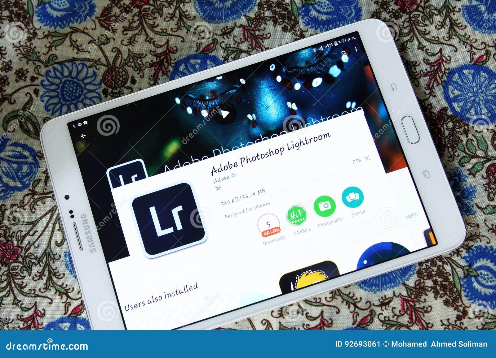 Adobe Photoshop Lightroom App Editorial Photo - Image of downloading