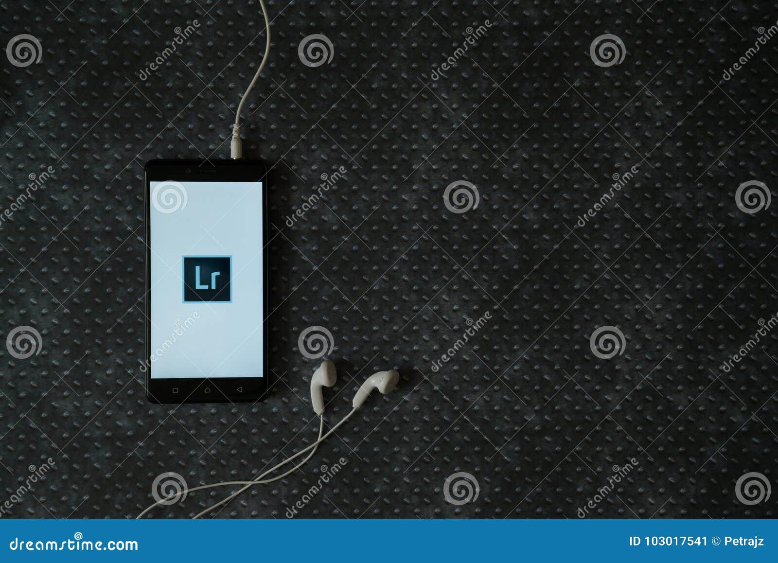 Adobe Photoshop Lightroom Logo On Smartphone Screen
