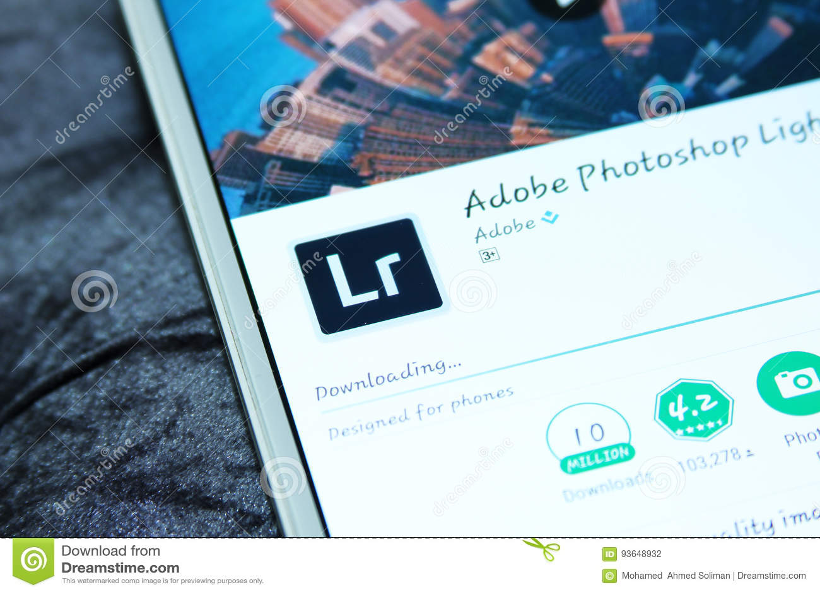 Adobe Photoshop Lightroom Mobile App Editorial Photography