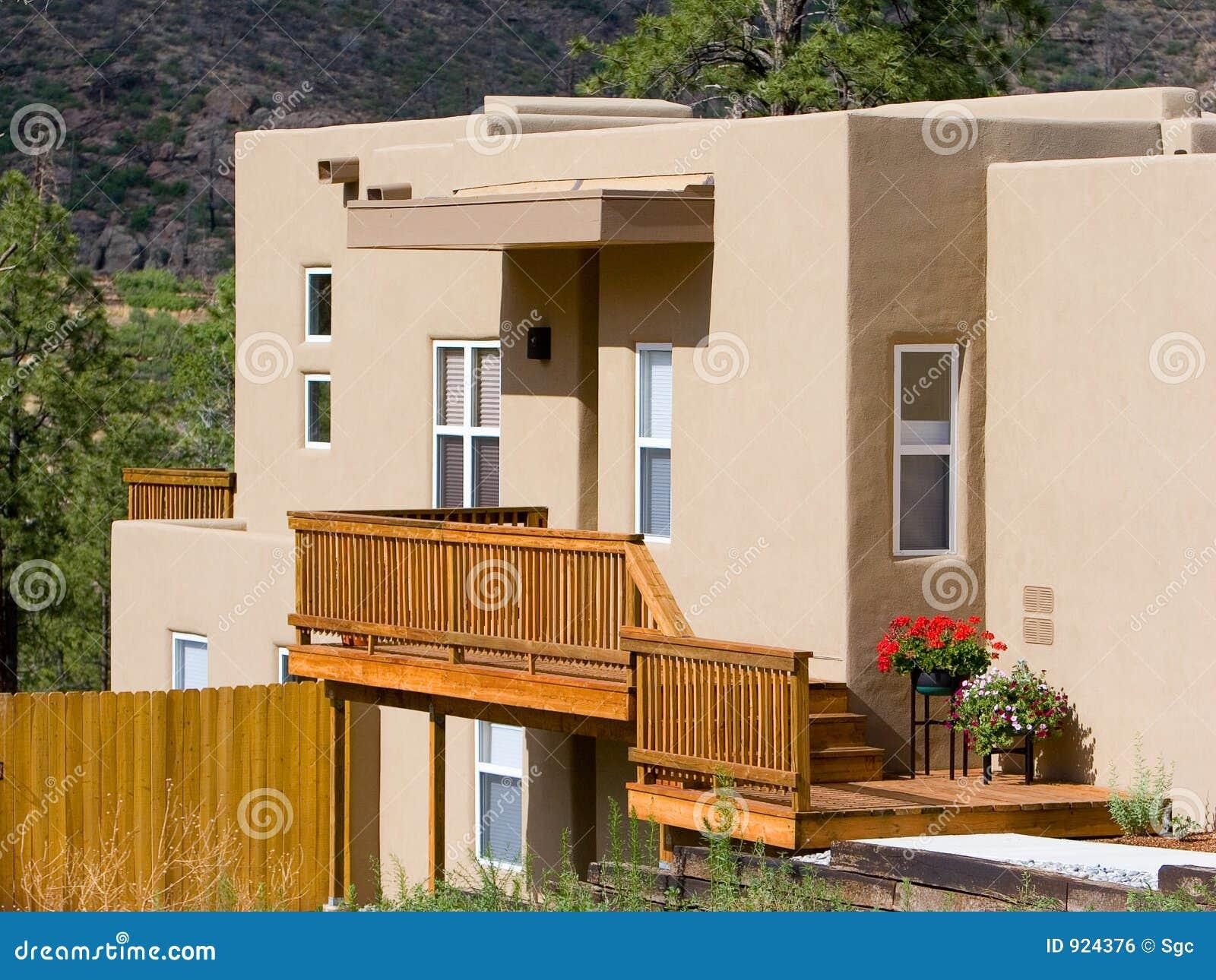Adobe style house stock photo image of house dwelling for Adobe style house