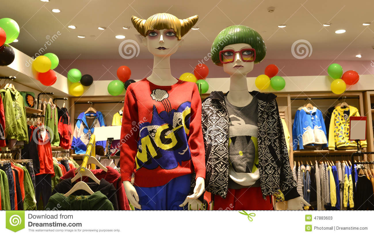 adolescent clothing store, New type of Mannequin,Interesting clothing