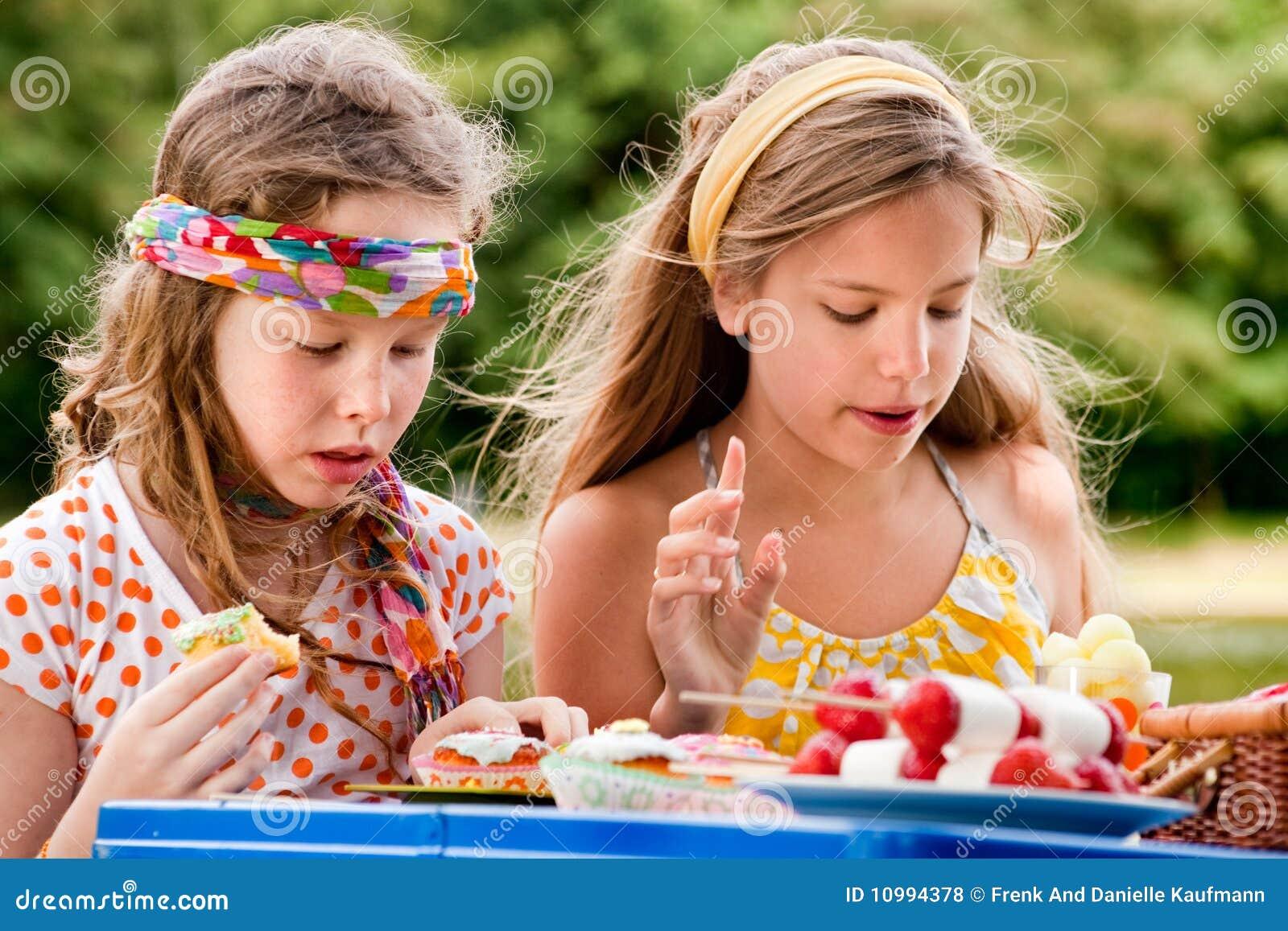 Adolescente del picknick
