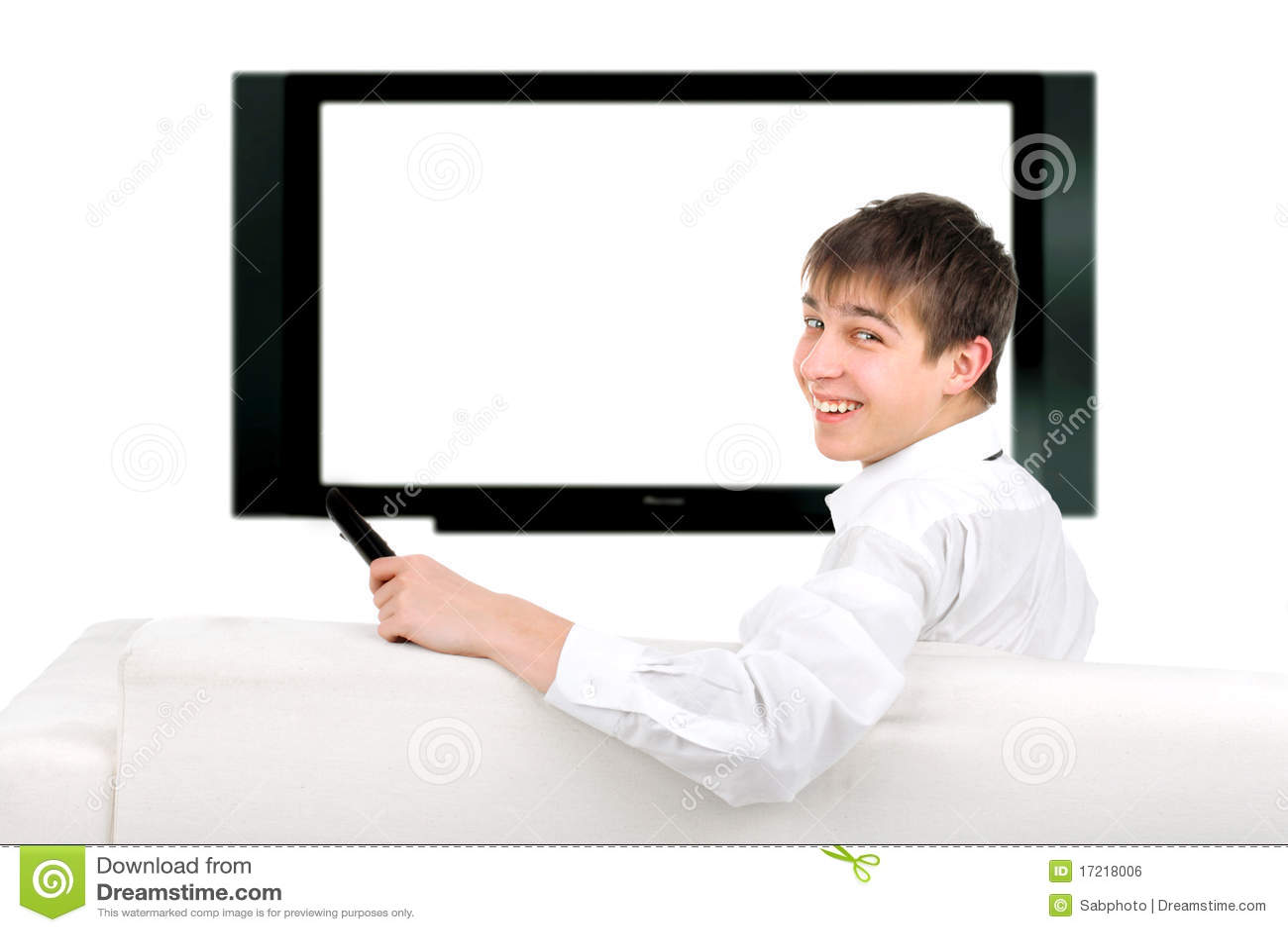 Adolescente e televisore