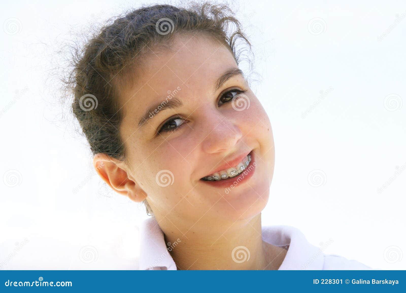 Adolescente feliz