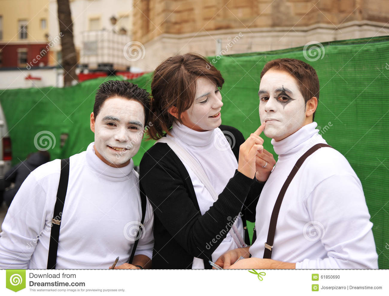 Adolescents in Carnaval of Cadiz, Andalusia, Spain