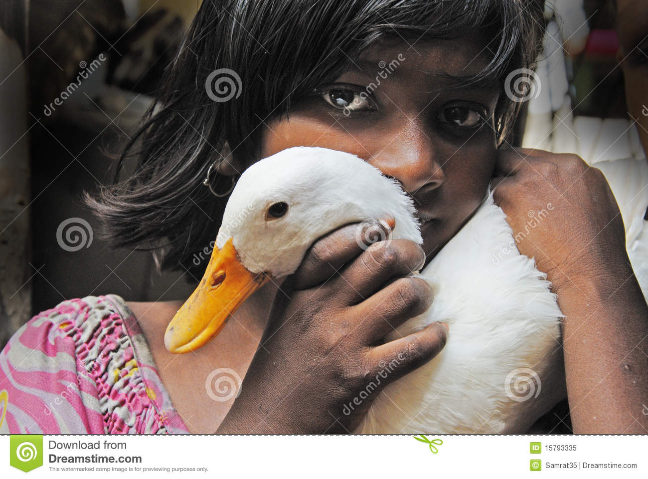 Adolescents girl in India.