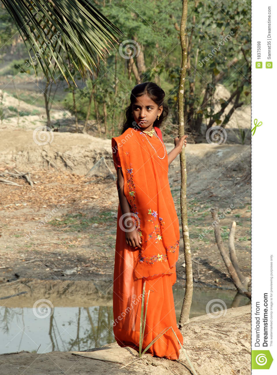 Adolescents Girl In Rural India Editorial Stock Photo -7435
