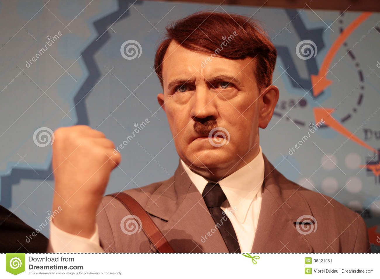 Adolf Hitler wax statue at Madame Tussauds in London.