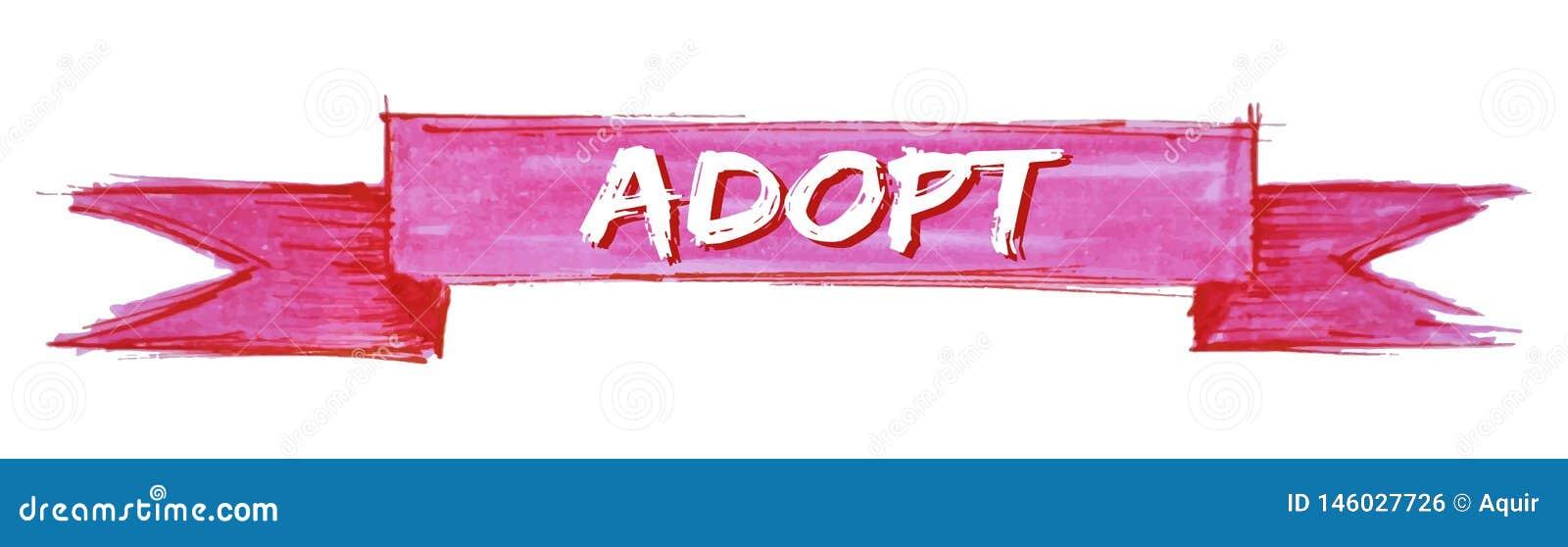 adopt ribbon