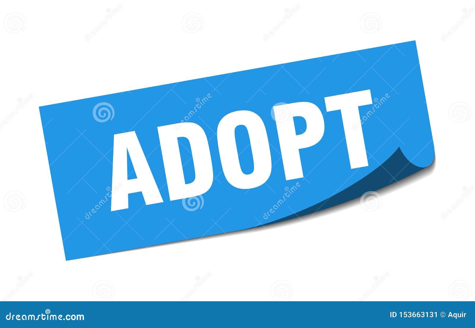 adopt sticker.
