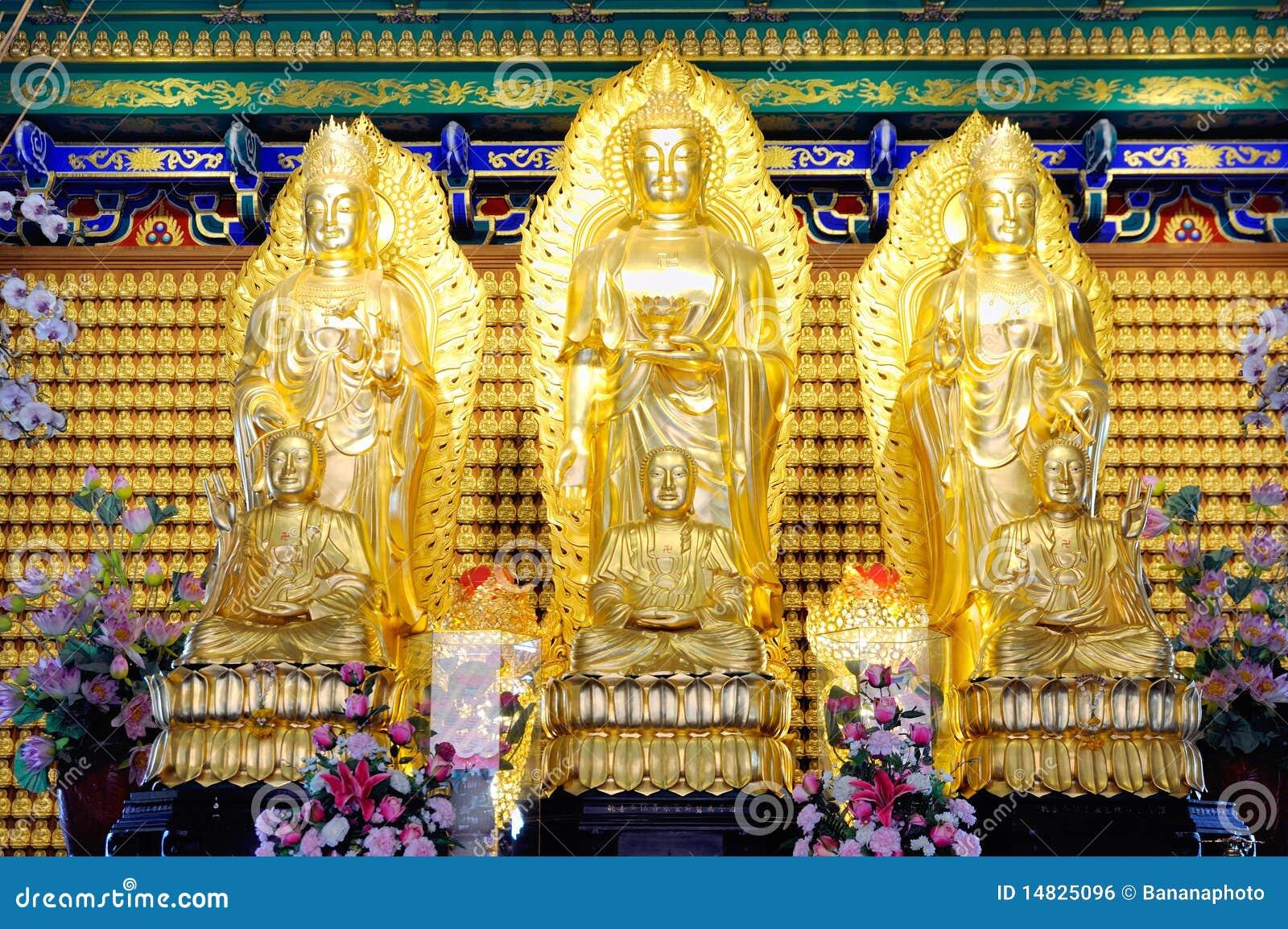 A adoração de Joss do buddhism