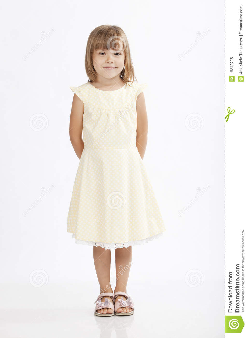 Adorable 5 Years Old Girl Standing Royalty Free Stock Photo  Image