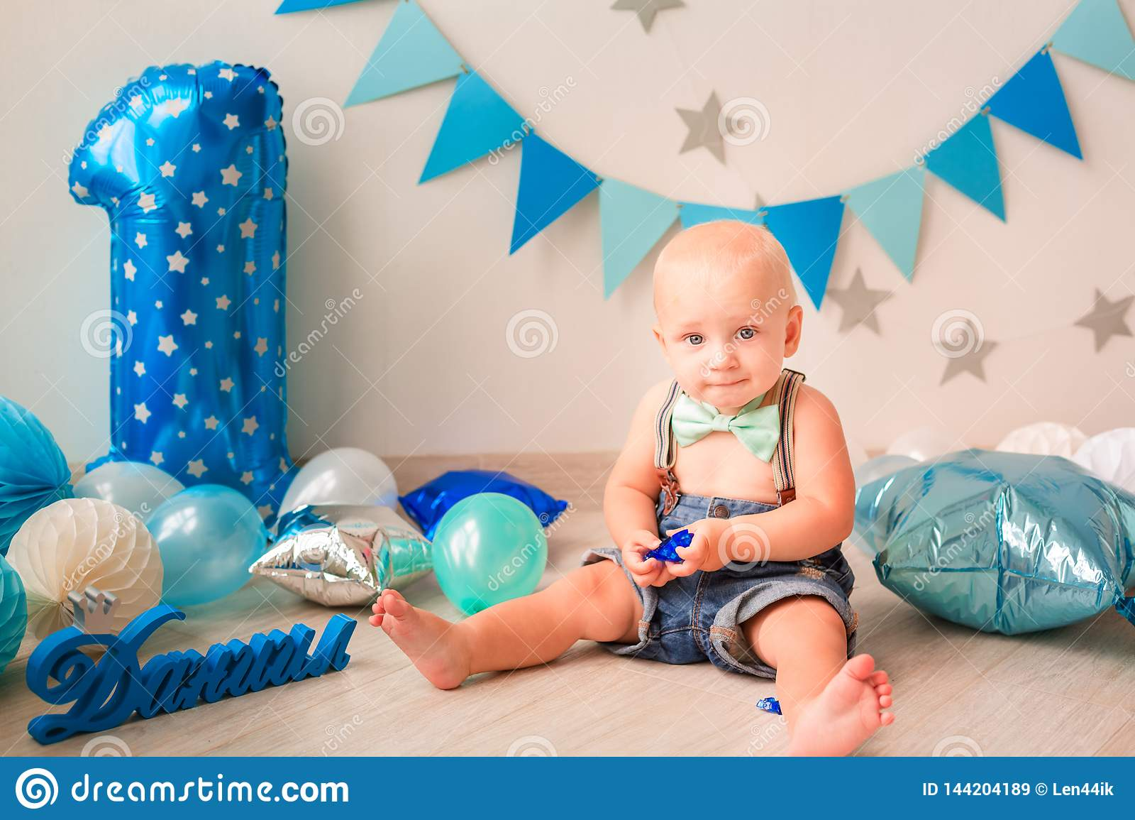 Awesome Adorable Baby Boy Celebrating His First Birthday Smash Cake Stock Funny Birthday Cards Online Unhofree Goldxyz