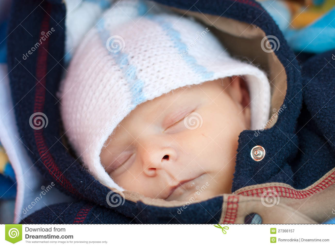adorable baby boy in winter clothes sleeping stock image image 27366157. Black Bedroom Furniture Sets. Home Design Ideas