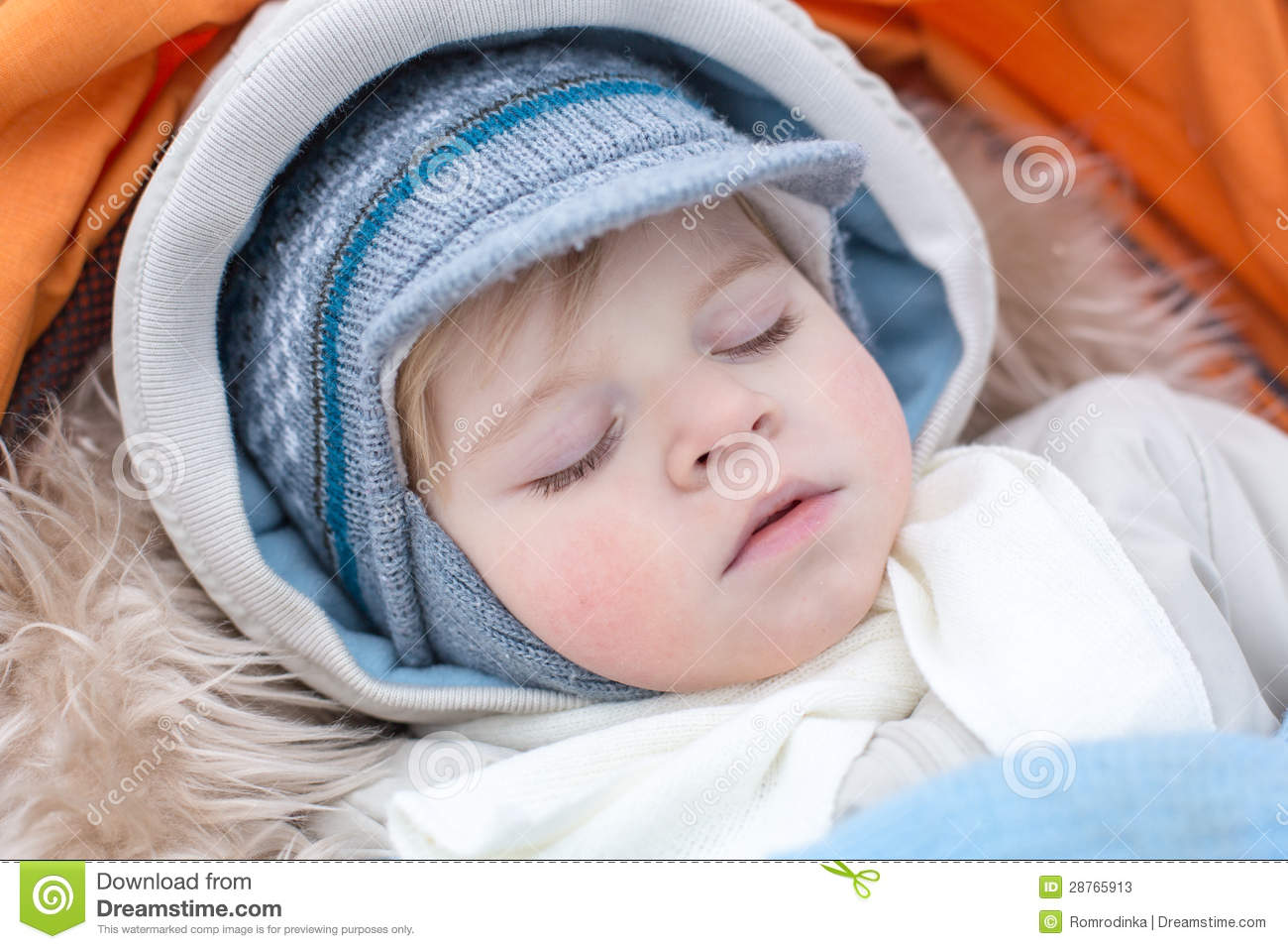 adorable baby boy in winter clothes sleeping stock image 27366157. Black Bedroom Furniture Sets. Home Design Ideas