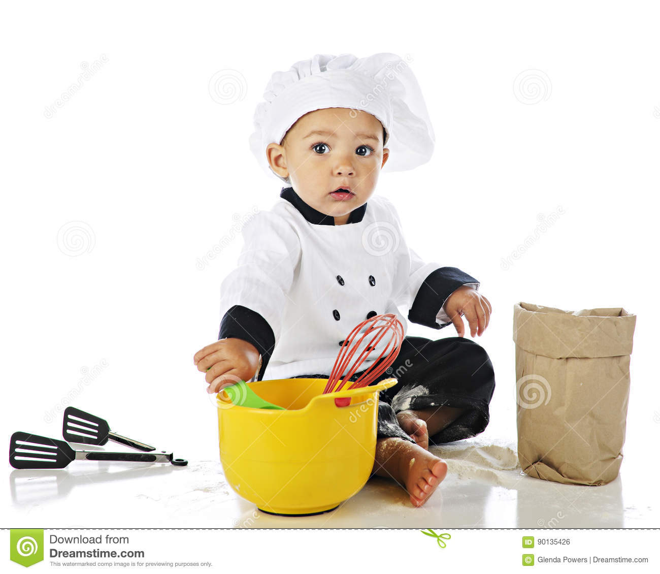 9e56c22fc Adorable Baby Chef stock photo. Image of small, outfit - 90135426
