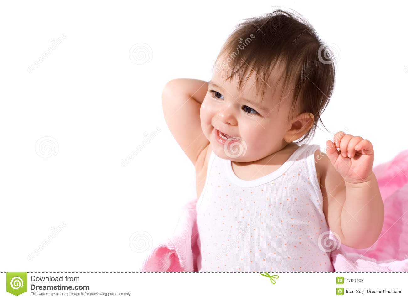 Adorable Baby Girl Laughing Royalty Free Stock Photos ...