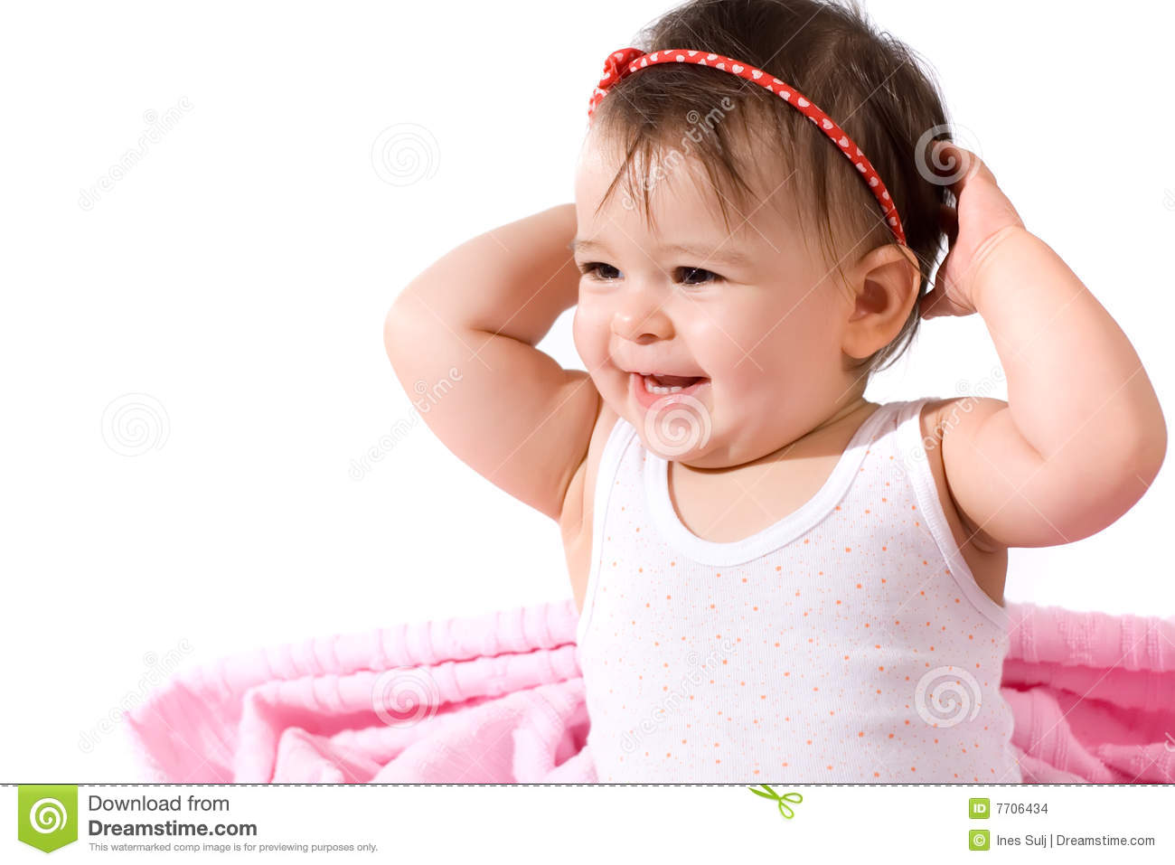 Adorable Baby Girl Laughing Stock Images - Image: 7706434