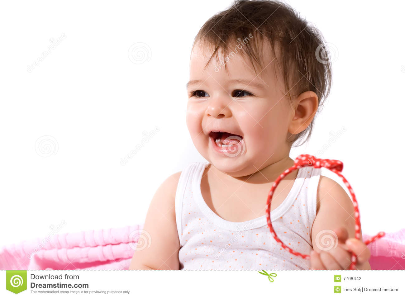 Adorable Baby Girl Laughing Stock Photography - Image: 7706442