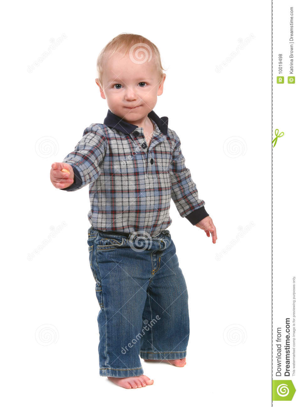 Adorable Baby Toddler Boy Standing Up Royalty Free Stock ...
