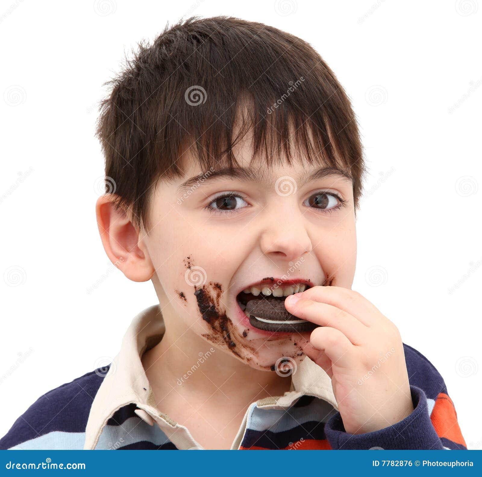 Adorable Boy Eating Cookies Stock Photo Image 7782876