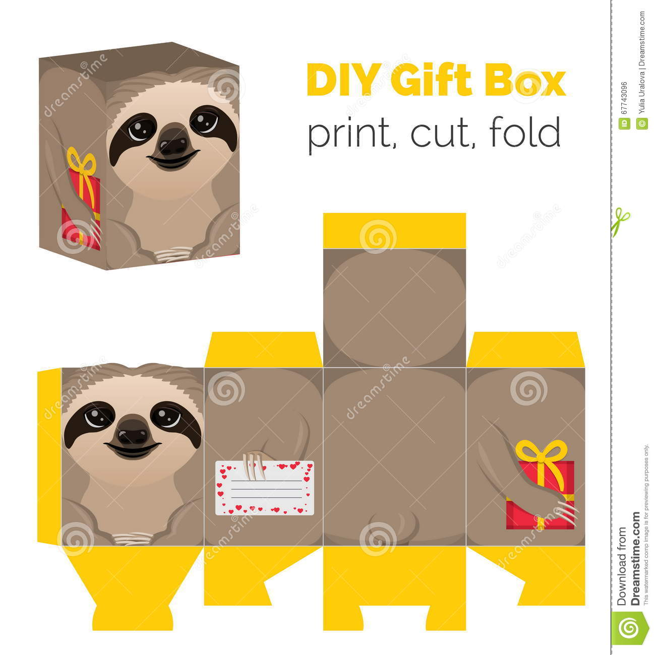 Adorable do it yourself sloth gift box for sweets candies small download adorable do it yourself sloth gift box for sweets candies small presents solutioingenieria Gallery