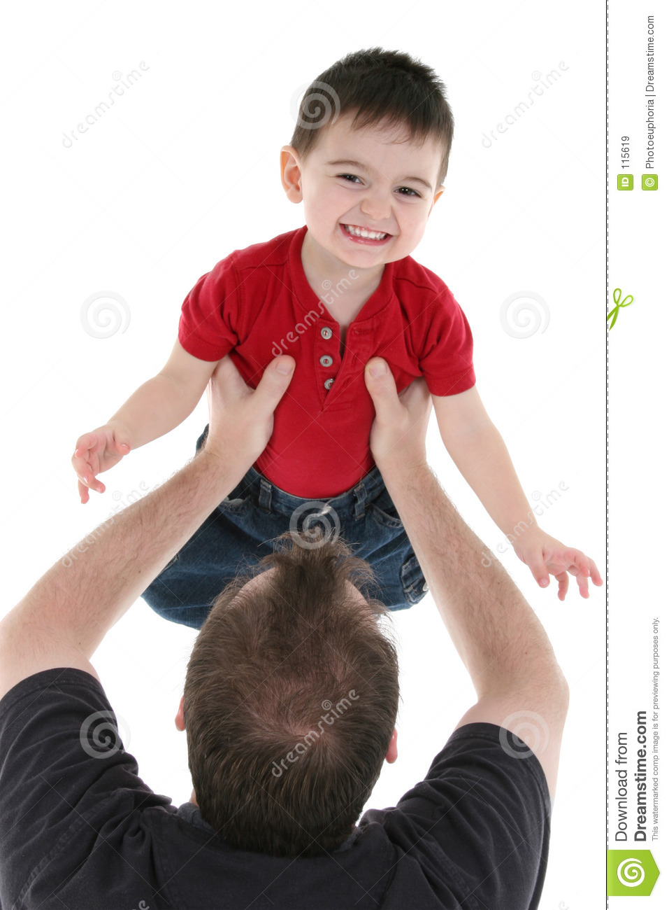 Adorable Family Moment Between Father And Son