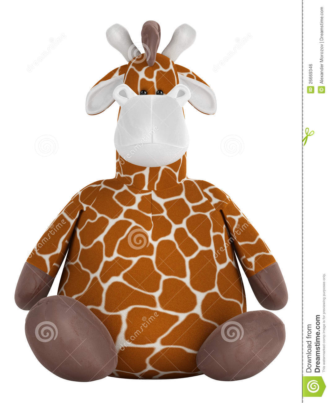 Adorable Fat Stuffed Giraffe Stock Illustration Image