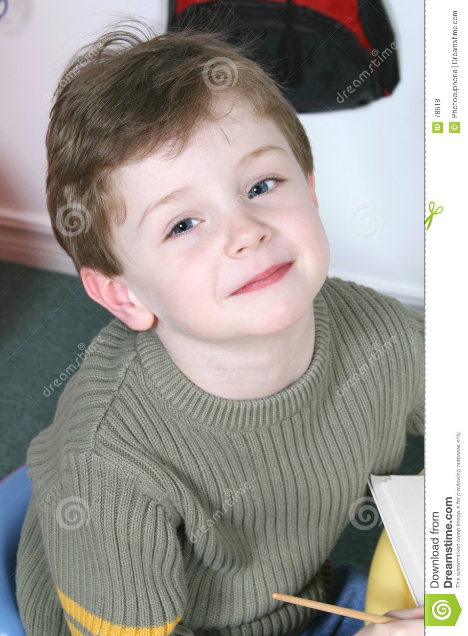 4 Year Boy Bedroom Decorating Ideas: Adorable Four Year Old Boy With Big Blue Eyes Royalty Free
