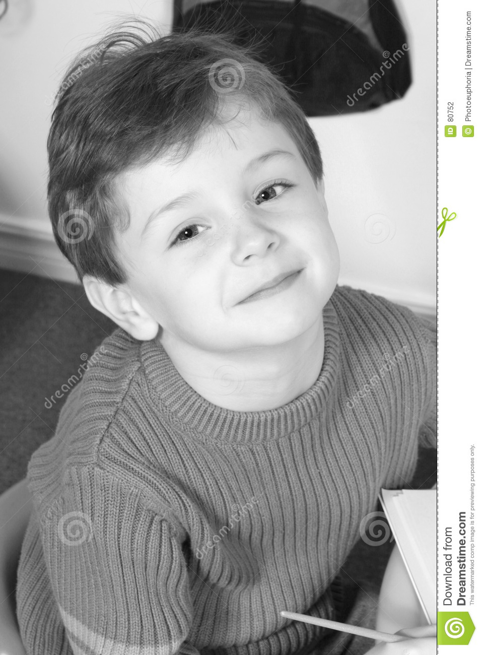 Adorable Four Year Old Boy With Big Blue Eyes Stock Photo Image Of