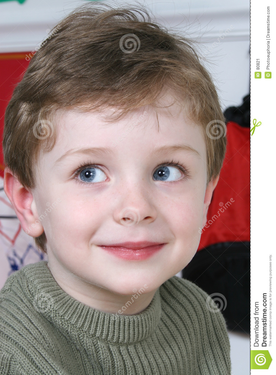 4 Year Boy Bedroom Decorating Ideas: Adorable Four Year Old Boy With Big Blue Eyes Stock Image