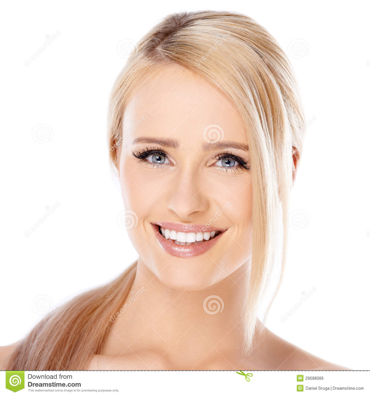 Beautiful Girl Smile: Adorable Girl With Beautiful Smile Royalty Free Stock