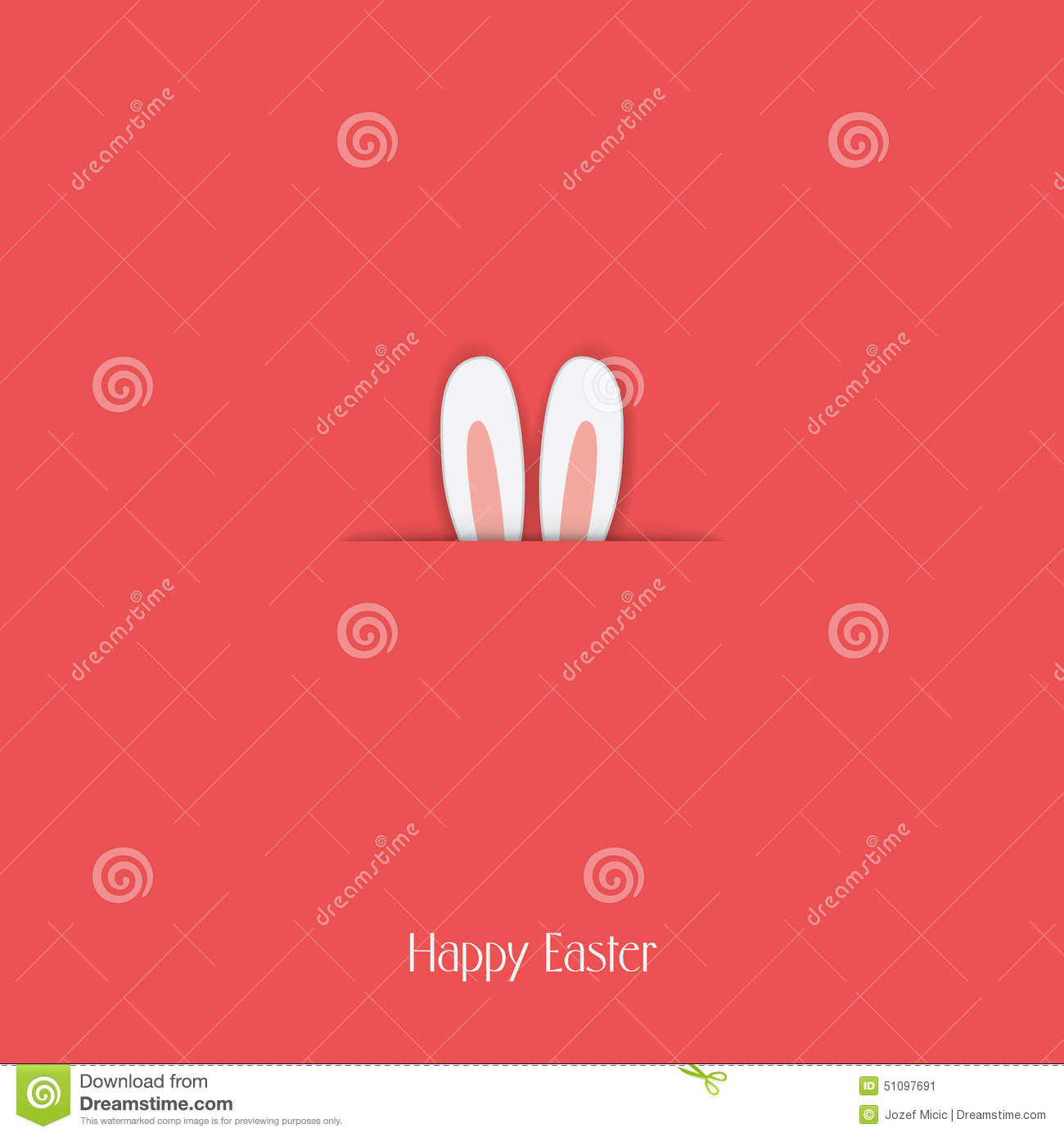 Adorable Happy Easter Postcard Template With Bunny Vector – Easter Postcard Template