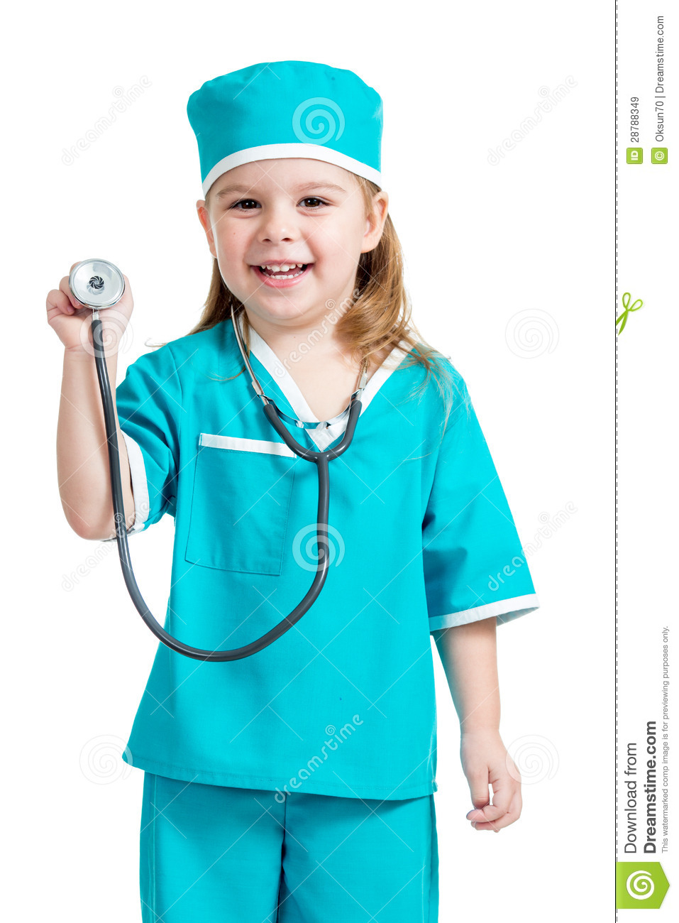 doctor kid adorable background child doctor girl isolated kid ...