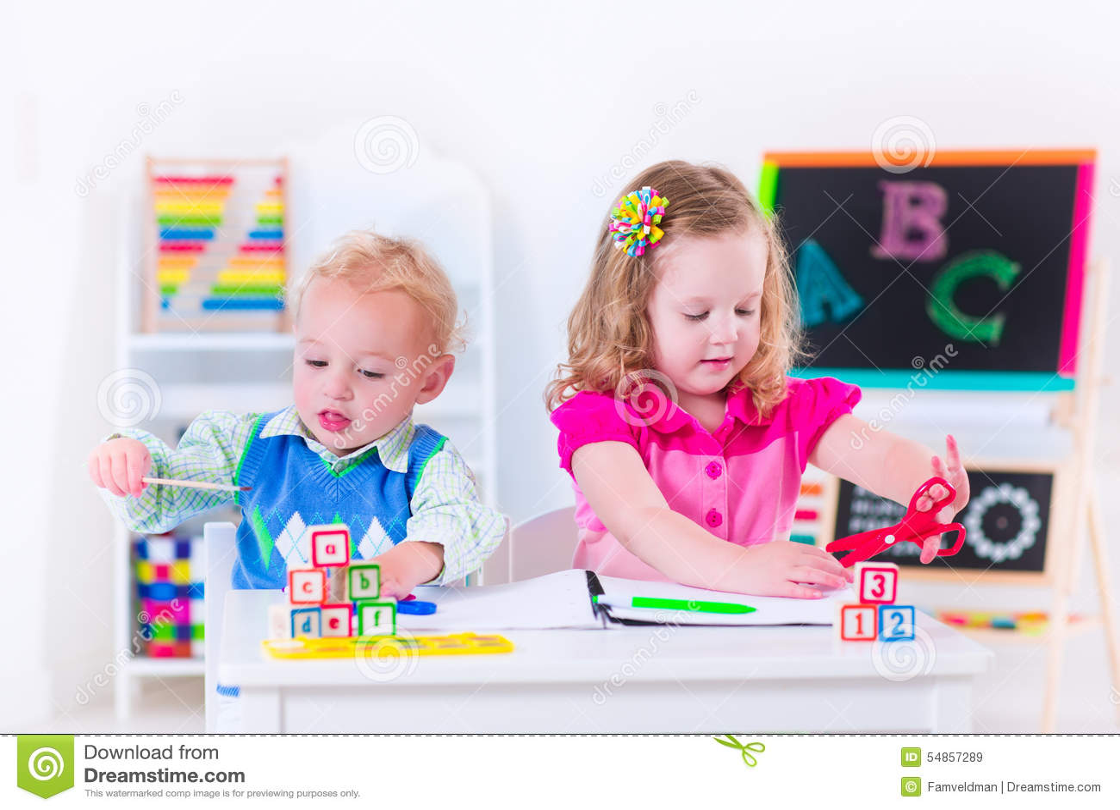 when do children go to preschool adorable at preschool painting stock photo image 959