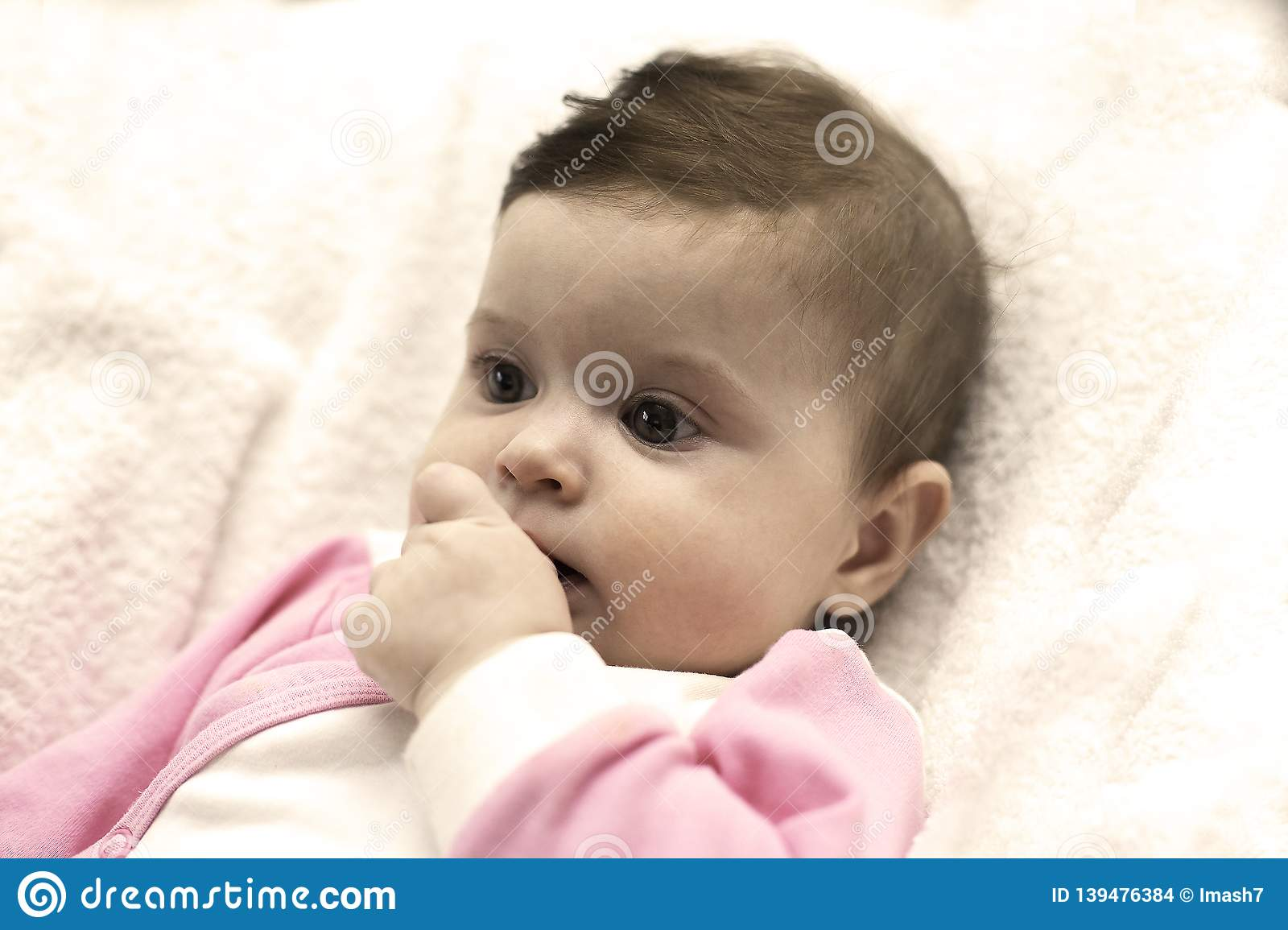 a23f246beeea Cute Girl Biting Her Finger Stock Images - Download 175 Royalty Free Photos