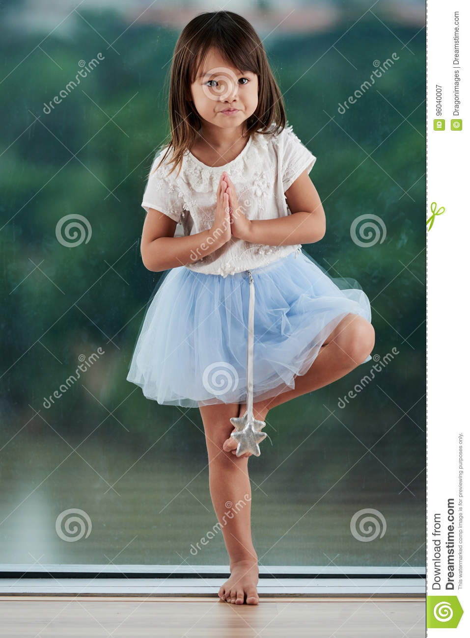 a0346acbd Portrait Of Skillful Little Ballerina Stock Image - Image of ...