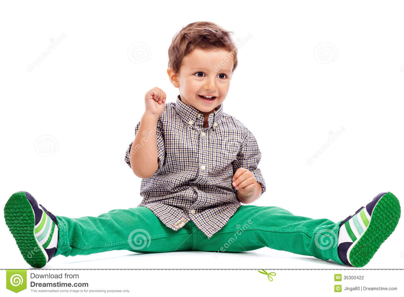 Adorable Little Boy Sitting On The Floor Stock Photography Image 35300422