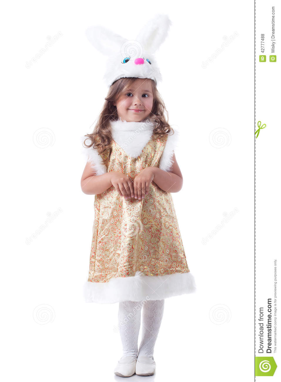 Adorable Little Girl Posing In Bunny Costume Stock Photo Image Of