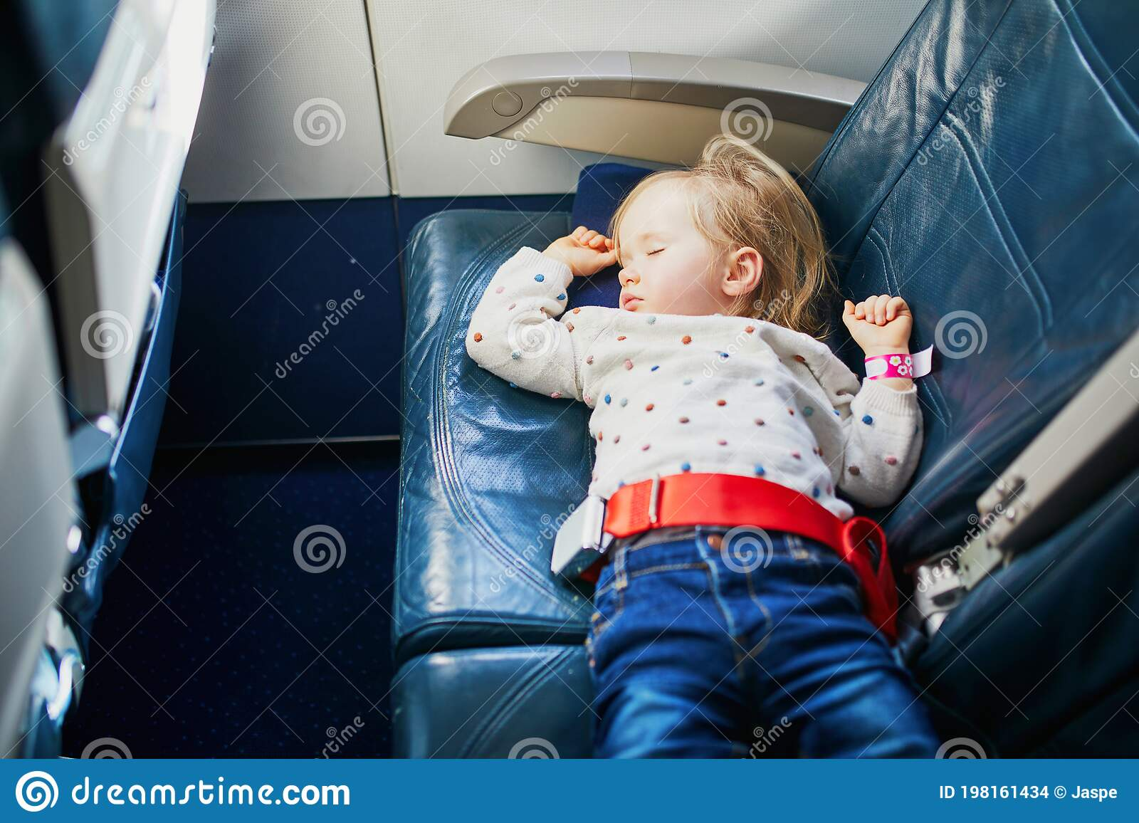 Adorable Little Toddler Girl Traveling By Plane Stock Photo Image Of Childhood Person 198161434