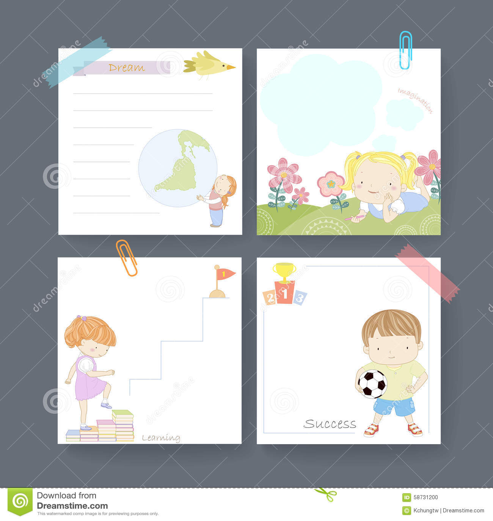adorable memo paper template design stock vector image  adorable memo paper template design