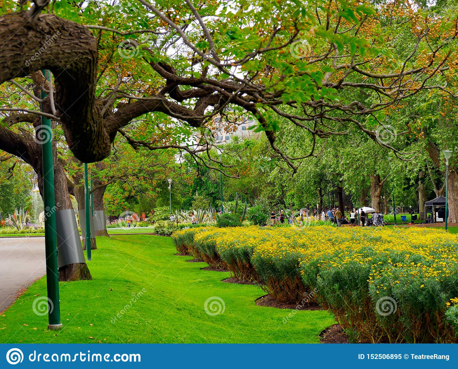 Adorable,peaceful scenery of Fitzroy Gardens in Melbourne